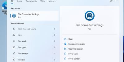 Run open source File COnvertor on WIndows 11