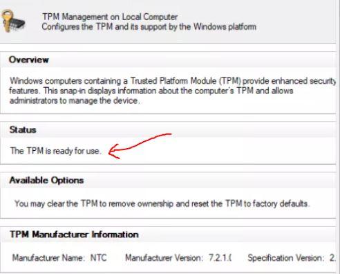 TPM Management console