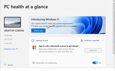 Windows 11 PC health check up tool download