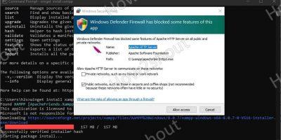 Install XAMPP using Winget on Windows 10