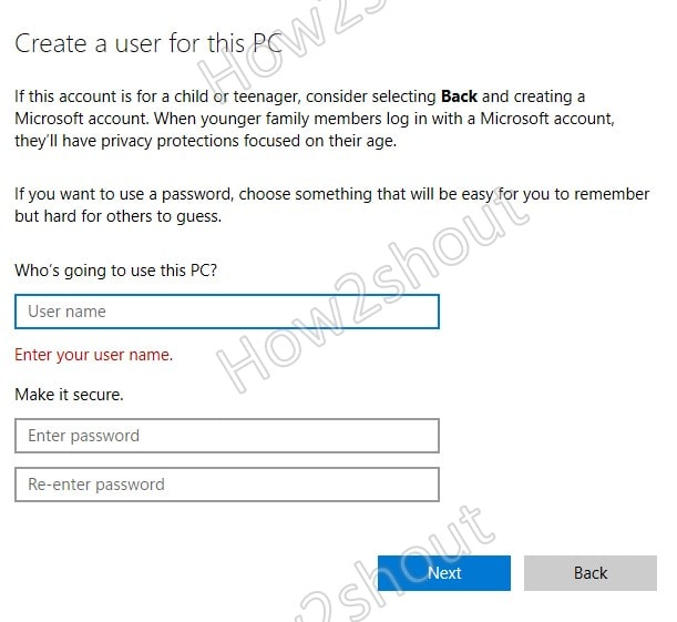 Add Windows 11 Local Account User