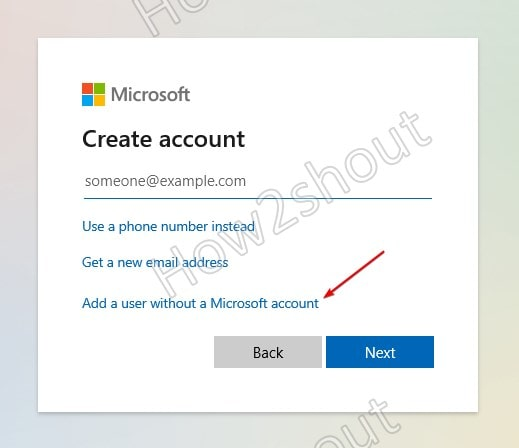 Add new Windwos 11 without a Microsoft Account