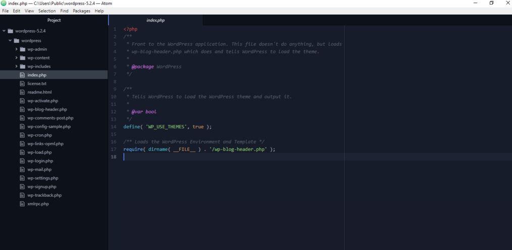Atom code editors min