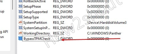 Create Bypass TPM check Entery Registery