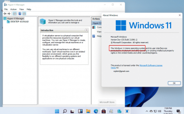 Download and install Hyper v manager on Windows 11 home edition