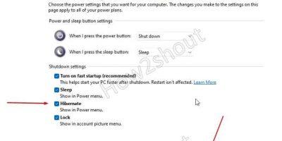 Enable Hibernate on Windows 11