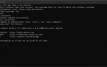 Installing Ubuntu 20.04 LTS WSL app on Windows 11 subsystem for linux