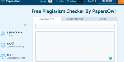 PaperOWL Plagarism tool free online
