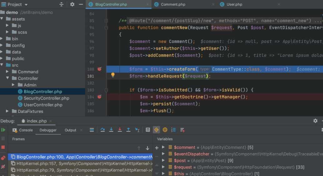 PhpStorm IDE code editor min