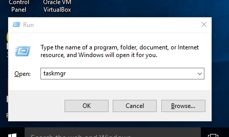 Open Task Manager in Windows 11 using Run command