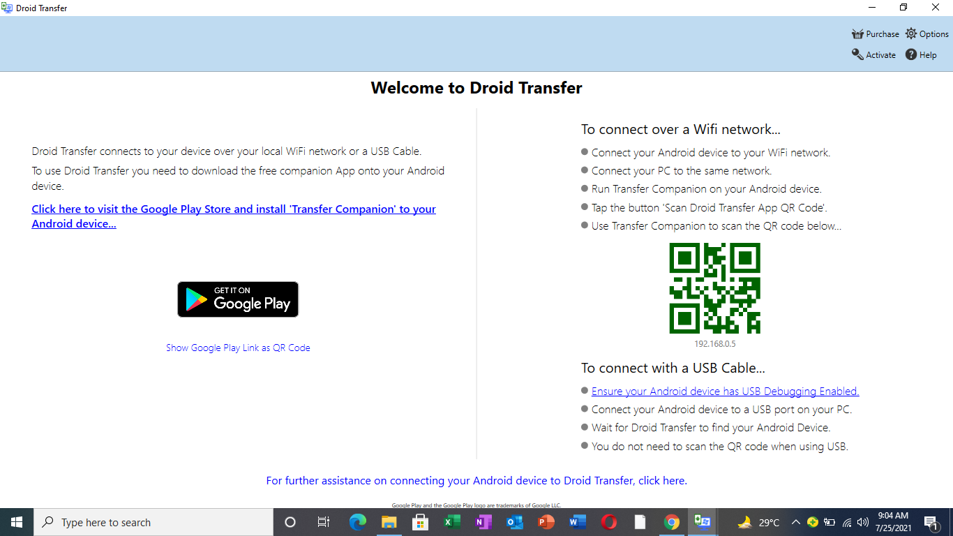 Transfer Text Messages from Android Device to PC
