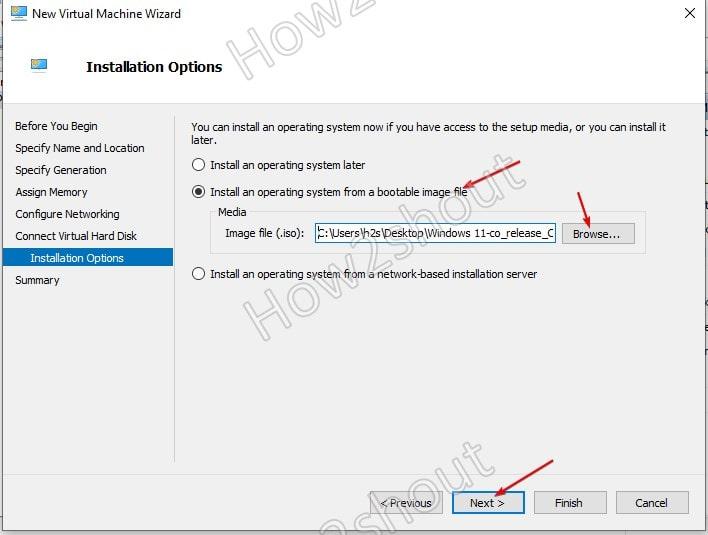 Set WIndows 11 ISO as bootable medium