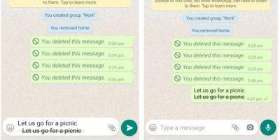 StrikeThrough the WhatsApp chat Text min