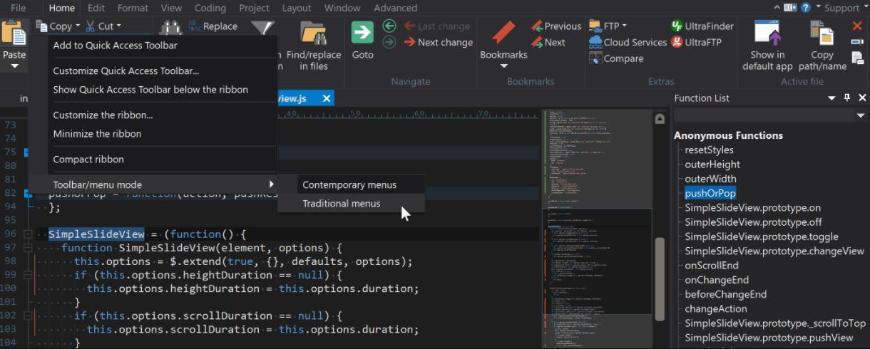 UltraEdit Code editor programe min