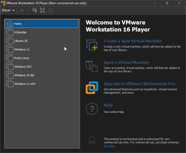 VMplayer Workstation Player vs VirtualBox