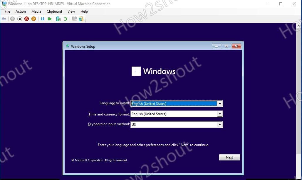 Windows 11 on Hyper V install