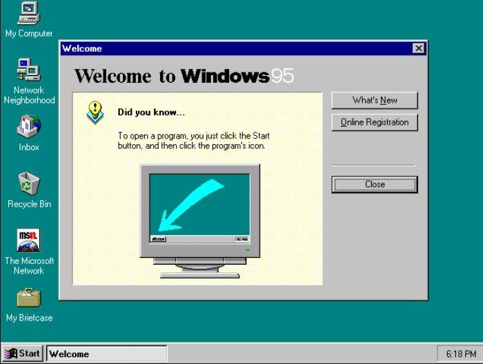 Windows 95 list of version