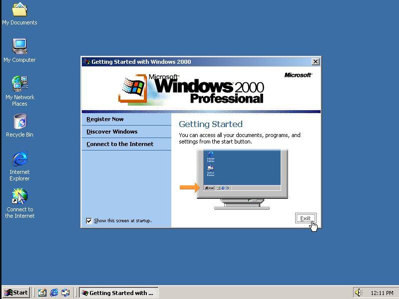 Windows ME and 2000 version list