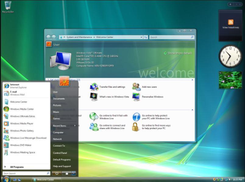 Windows Vista OS microsoft