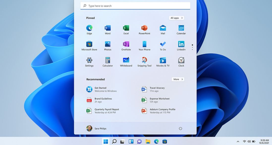 new Windows 11 start menu min