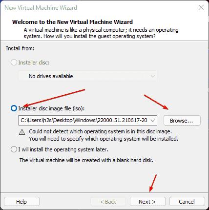Add Windows 11 bootable ISO file