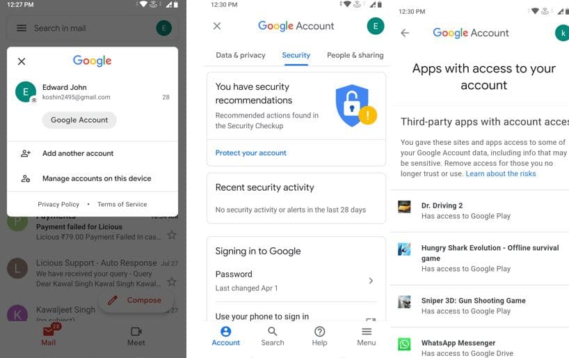 Check Which Apps on Android Have your Googel Account access min