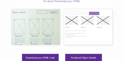 Convert Drawing to HTML using Sketch2code AI