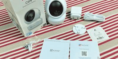 EZVIZ C6N review box items