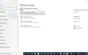 Pause Update in Windows 10