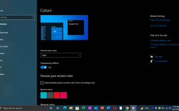 Transform Windows 10 Interface From Light into Dark