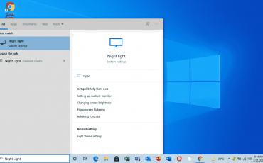 Enable Night Light Settings Windows 10