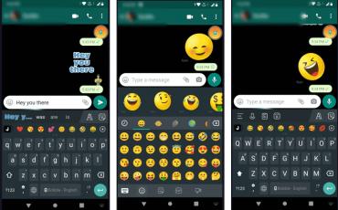 Send creative Emojis and text on WhatsApp min