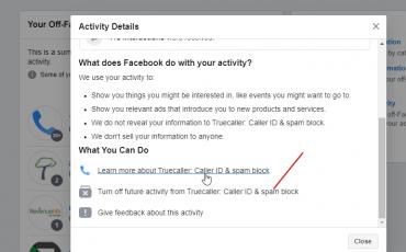 Turn off Facebook Future activity