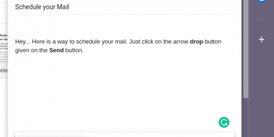 how to schedule email in GMail min