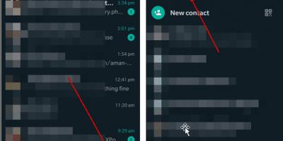Create new WhatsApp group using settings