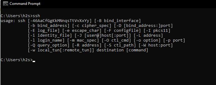 Windows 11 SSH command