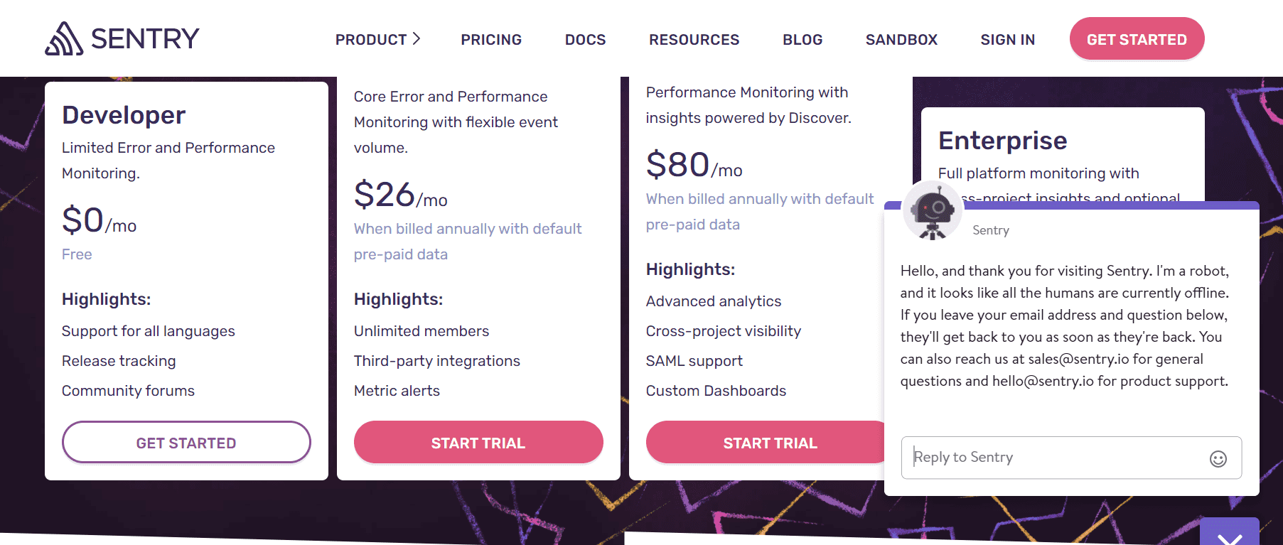 The different pricing for API
