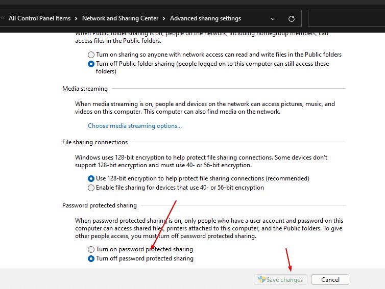 Sem guia de compartilhamento no Windows 11  10 propriedades de rede, receba de volta