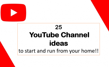 YouTube Channel ideas to start and run from your home