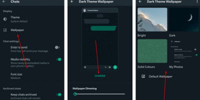 set or change your Whatsapp wallpaper