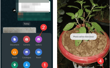 use the View Once feature on Whatsapp to send contents