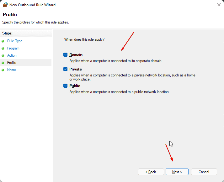 Apply Firewall Profile Rules