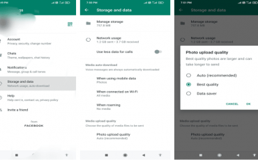 Change the Picture quality in WhatsApp