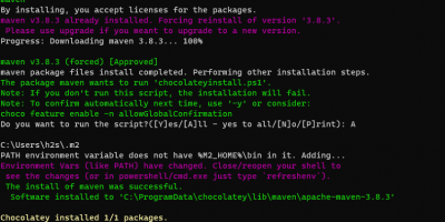 Command to install Apache Maven on Windows 10 or 11