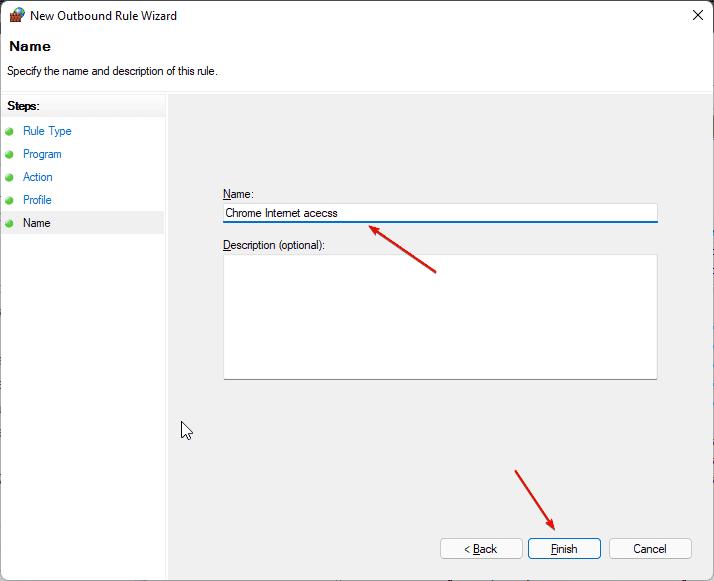 Give firewall rule some name